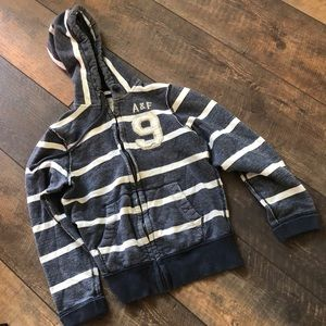 Abercrombie Fitch Muscle Distress Full ZIP Hoodie